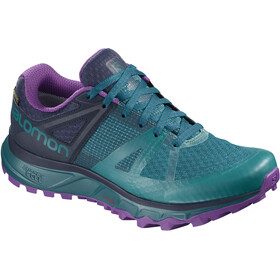 Salomon Trailster GTX Running Shoes Women black/teal